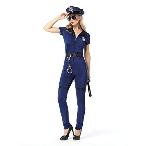 WEII Sexy Kleidung Sexy Police Kleidung Einteilige Hosen Polizeiuniform Rollenspiele Party Kostüme,Bild,M