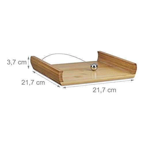 /671/Servilletero bamb/ú Esmeyer 199/ 20,5/x 0,7/x 9,5/cm