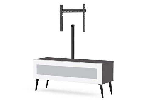 Meliconi Meuble TV Bois, Gris/Noir, 45 x 132 x 15 cm