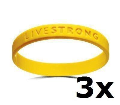 3x Original Livestrong Armband incl. $1 Krebshilfe Nike ADULT / - Silikon-armband-nike