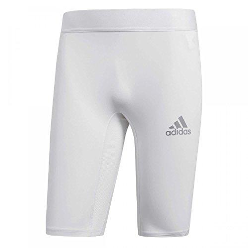 adidas Herren Alphaskin Short Tights, White, M (Mesh-zwickel)