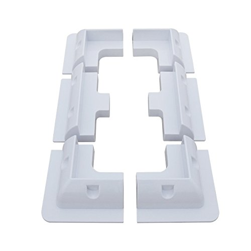 Brand New Set of High Quality ABS White Plastic Solar Panel Brackets  This set of 4 plastic corner mounting brackets for a range fixing rigid-frames solar panels to vehicles, boats, flat roofs and a range of other applications.  Includes Side mounts ...