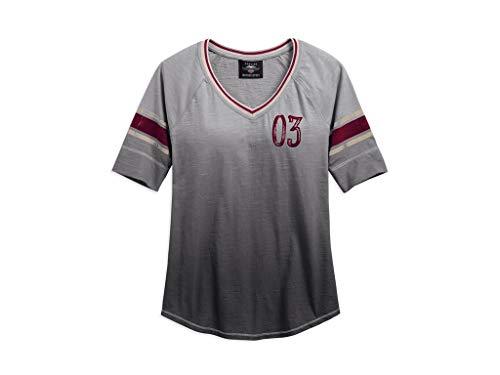 Harley Davidson T-Shirt Dip-Dyed Slub Baseball, M-Lady -