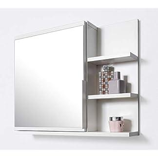 DOMTECH Dom Tech Cuarto de baño Espejo con estantes, Armario de baño Espejo, Color Blanco Armario con Espejo