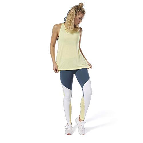 Reebok Damen Les Mills Supremium Tank Top, gelb, Small - Reebok Yoga Set
