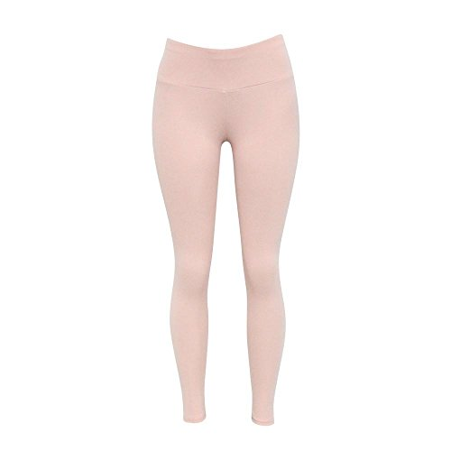 Dreamskull Leggings Jeggings Treggings Bleistifthose Stretchhose Damen Mädchen Hose Lang High Waist Skinny Slim Fit Schwarz Yoga Joggingshose Stretch Workout Fitness Rosa
