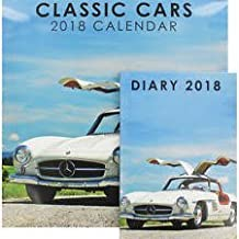 New calendar and diary set classic cars 2018 this will make a great christmas gift