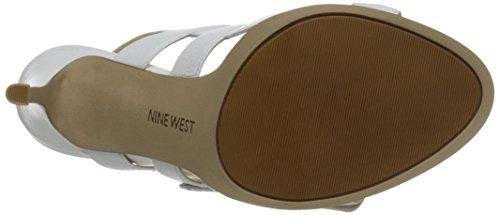 Nine West Howrude cuir Sandales à talons white