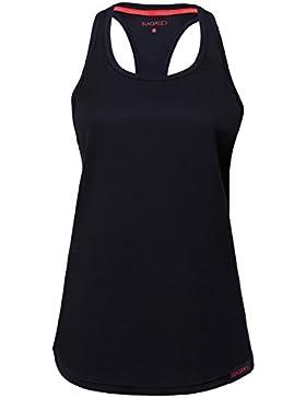 Sundried Sport delle Donne Vest Yoga Wear da Maniche a Spalle Scoperte Formazione e Palestra Canotta