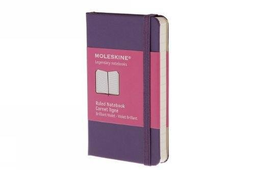 Ruled notebook extra small, purple