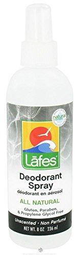 Lafes - Spray deodorante naturale e biologica con Aloe Vera