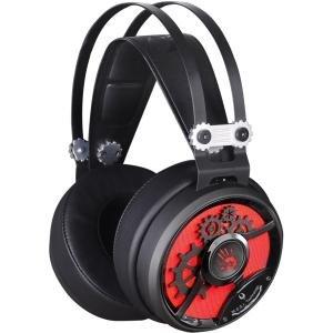 BLOODY m660p Moci Hi-Fi Gaming Headset, integriertes Mikrofon, leichtes, schwarz/rot