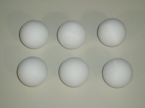 FOOTBALL TABLE BALLS 6 x 36 mm SCUFFED WHITE BALLS **