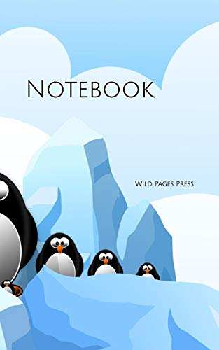 Notebook: Penguin Antarctica ice cartoon animal blue Touch-screen-notebook-computer