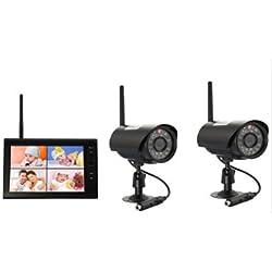 """Upgrade Sichere Babyphones Überwachung mit 2 Kameras Baby Monitor 2,4 GHz WLAN 7.0"""" LCD Monitor Digital Kamera Sicherheit System Integrierter IR-Beleuchtung für Nachtsicht (2 Kameras verpackt)"""