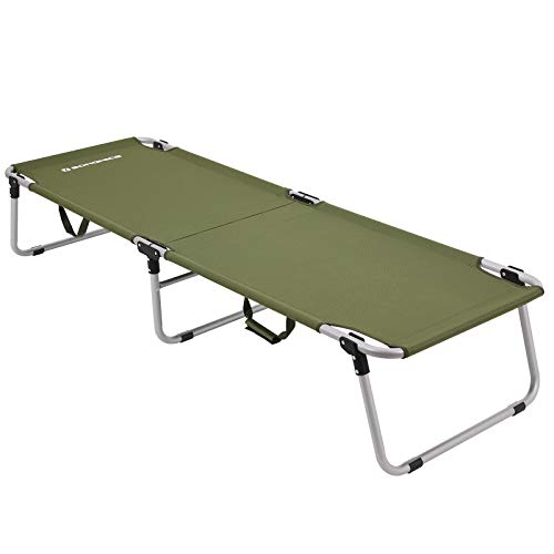 SONGMICS Campingbett, Feldbett, max. statische Belastbarkeit 260 kg, 190 x 63 x 36 cm GCB18J