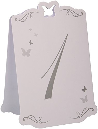 Schmetterling Tischnummern 1-12
