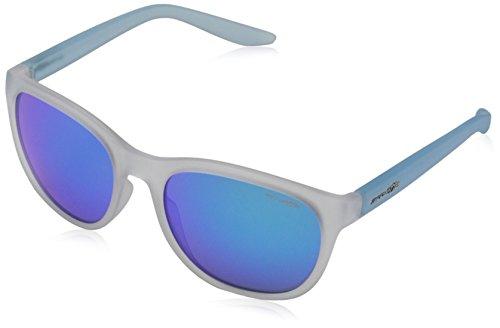 Arnette Unisex-Erwachsene 0AN4228 238625 55 Sonnenbrille, Weiß (Matte Clear/Greenmirrorlightbluee),