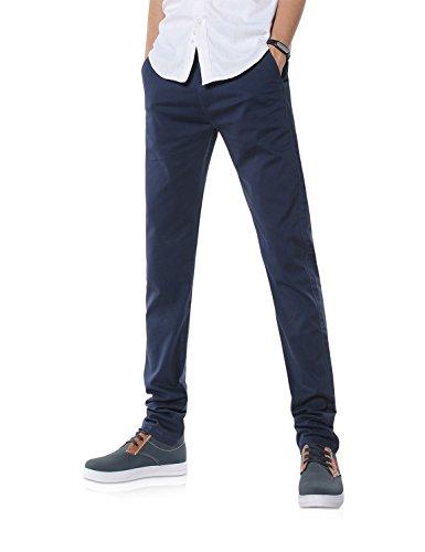 Demon&Hunter 9X Slim-Fit Series de estiramiento pantalones casuales para Hombres Dh9107 Armada X 28W / 30L