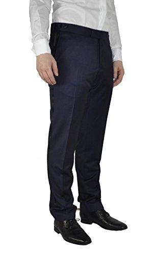 Michaelax-Fashion-Trade -  Pantaloni da smoking  - Straight  - Basic - Uomo Blau (38)