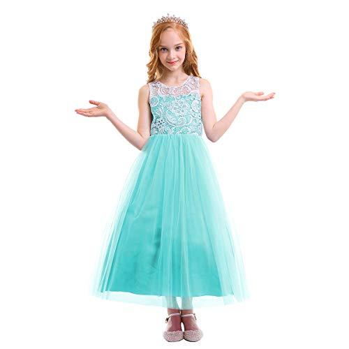 a4a45b1fe31c OBEEII Vestito Elegante da Ragazza Festa Cerimonia Matrimonio Damigella  Donna Sposa Prima Comunione Battesimo Carnevale Ballerina