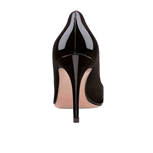 EDEFS Femmes Artisan Fashion Sandales Classiques Elégants Bout Ouvertss Bureau Habillé Chaussures à Talon de 85mm Noir