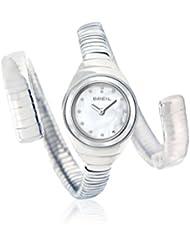 Breil TW1052 - Reloj de mujer (acero), correa efecto serpiente con cristales de Swarovski