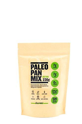 MEZCLA PROTEICA DE PAN PALEO PARA HORNEAR /230g, Clhorella + Espirulina +Semillas de lino + Semillas de girasol, 0{782f0d54fdc3b4ac4e51149b1f6f45c2e7c24be1b6bcd35186de8dd3f7a3d05f} azúcar, sin gluten Apto para Veganos, Celiacos y diabéticos.