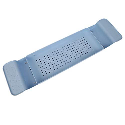 Toyvian Badewannen-Ablage, ausziehbar, Kunststoff, Blau