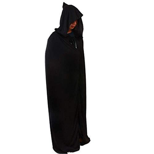 PG Halloween 170 cm schwarz mit Kapuze Kostüm Mantel unter dem Motto Prop Dekoration Cosplay Hexe (Viktorianischen Motto Kostüm)