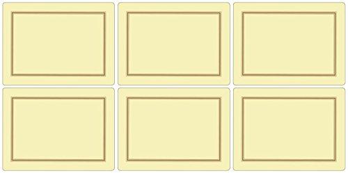 Pimpernel 10,5 x 10,5 cm, MDF, Kork, Platzsets, 6 Stück, Creme Pimpernel Classic Cream