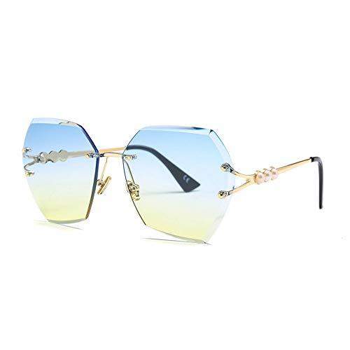 Thirteen Unregelmäßige Trimmen Sonnenbrille Frauen - Schutzgläser Sommer Strand Mode Sonnenbrillen Geeignet Für Dekoration, Sonnenschutz, Einkaufen, Reisen, Fahren. (Color : F)