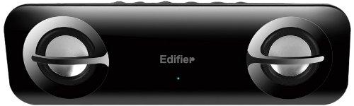 Edifier Audio Candy, mobiles Lautsprechersystem mit 2x 1,2W Satelliten, inklusive Tragetasche, schwarz