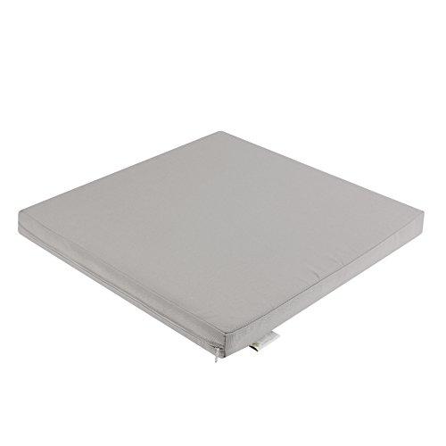 7even In & Outdoor Lounge Kissen 50cm Silber-Grau/Wasserfestes Kissen 50 x 50 x 5 cm/Sitzkissen, Bodenkissen