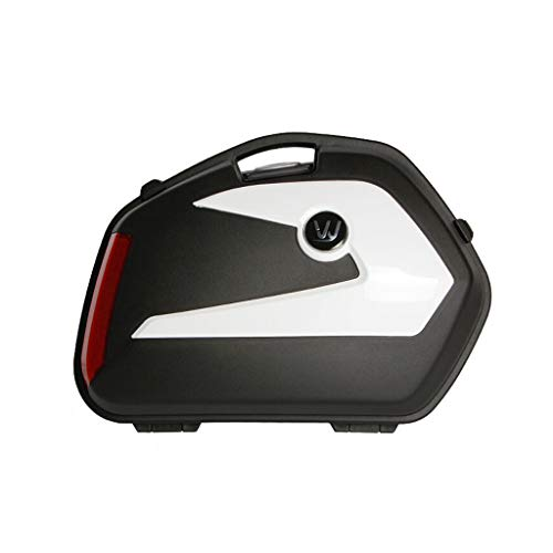 ADKINC 20L Topcase Motorradkoffer, Gepäck, wasserdichte Scooter Helmbox, mit Quick Release System - Kann Zwei volle Helme verstauen, (EIN Paar)
