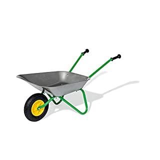 rolly toys 271757Metal Children's Wheelbarrow Air Tyre | Children from 2.5Years | Colour: Grey/Green/TÜV/GS-tested