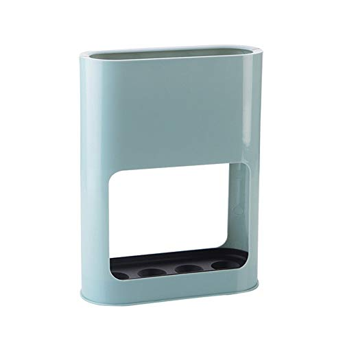 Portaombrelli per corridoio/esterno/interno con sgocciolatoio, per ombrelli lunghi/corti e bastoni da passeggio, light blue, 21.5 * 8 * 28 cm/8.5 * 3 * 11 inch