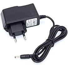 Caricabatterie vhbw 220V 4W (8V/0.5A) con connettore circolare per Logitech Harmony 720, 880, 890, 1000, Dinovo Edge come DSA-0051-FUS, L-LD2, L-LD4.