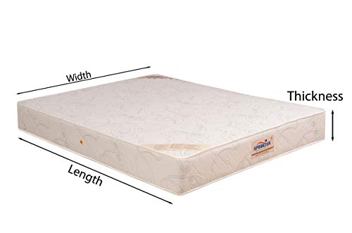 Springtek Ortho Pocket Spring 6-inch Queen Size Mattress (White, 78x60x6) Image 6