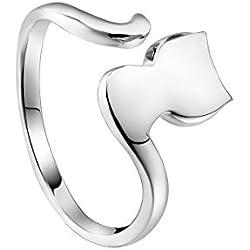 VIKI Lynn Plata de ley 925 ajustable anillo en forma de gato