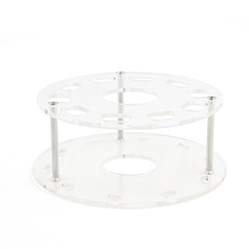 sourcing map Trou 10 acrylique Support brosse maquillage cosmétique Stand Rack séchage Outil étagère