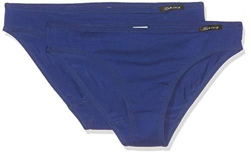 Skiny Mädchen Unterhose Essentials Girls Rio Slip 2er Pack Blau (Sodalite Blue 1628), Herstellergröße:176