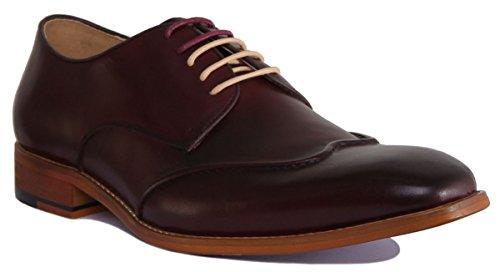 Justin Reece Kevin, Chaussures de ville à lacets pour homme Bordeaux