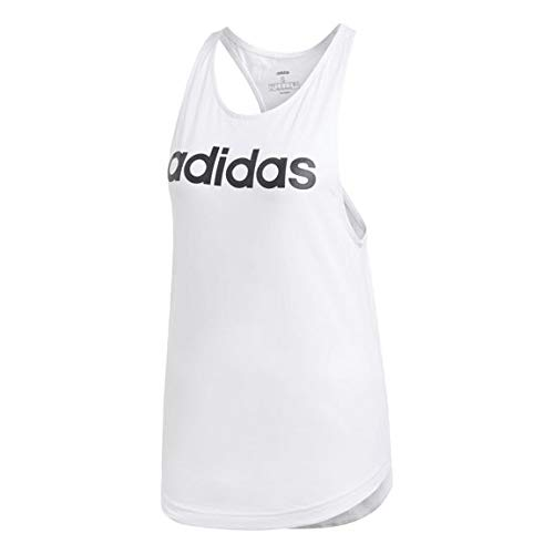 adidas Damen W E LIN Loos TK Tank Top, White/Black, M Preisvergleich