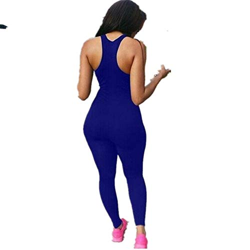 Globaltrade001 Mujer Chándal Traje Deportivo Mono Yoga Set Gym Fitness Set Ropa Deportiva Conjunto Una Pieza Vestimenta para Correr M