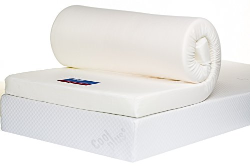 Bodymould Memory Foam Mattress Topper with Cover, 4 inch - UK King 2