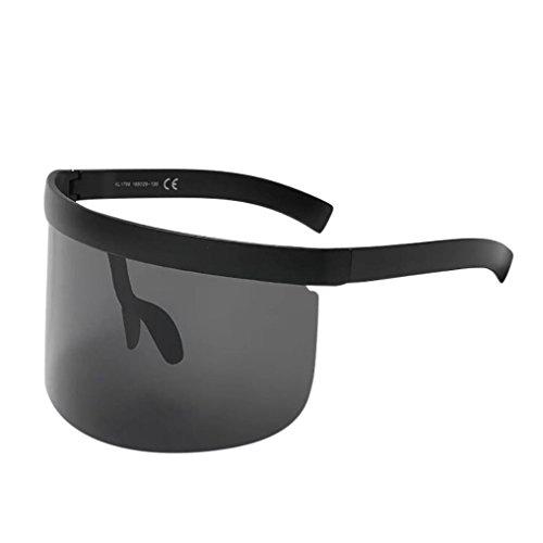 Fashion Unisex Vintage Sonnenbrille Rosennie Damen Retro Oversized Frame Hut Eyewear Anti-Peeping Big Frame Für Herren Frauen Spiegel Reflektierend Brille Big Frame Sonnenbrille Outdoor Brille (A)