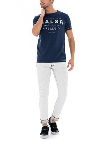 "Salsa - Baumwoll-T-Shirt, blau, ""Salsa"" - Herren Blau"