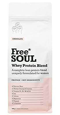 Hero Whey Protein Blend - Formulated for Women | 80% Whey Protein Powder Blended with Natural Ingredients to Support Female Hormone Balance, Mood and Energy | Gluten and Soy Free Protein Shake (600g) by Free Soul