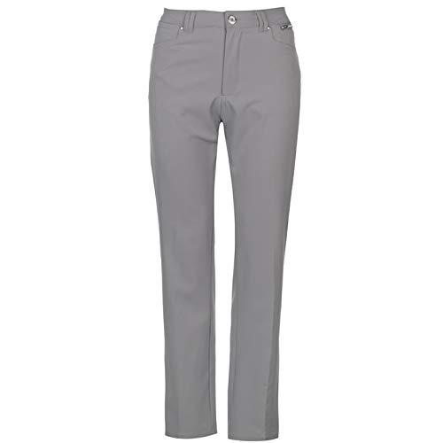 Slazenger Damen Golf Hose Taschen Grau 2XL